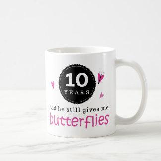 Gift For 10th Wedding Anniversary Butterfly Basic White Mug