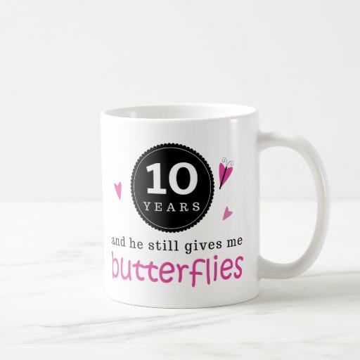 Gift For 10th Wedding Anniversary Butterfly Coffee Mugs