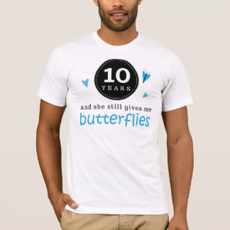 Gift For 10th Wedding Anniversary Butterfly T-Shirt