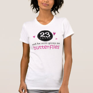 Gift For 23rd Wedding Anniversary Butterfly T-Shirt