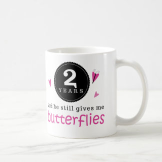 Gift For 2nd Wedding Anniversary Butterfly Coffee Mug