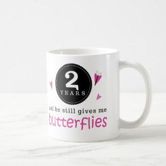 Gift For 2nd Wedding Anniversary Butterfly Basic White Mug