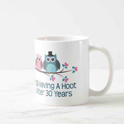 Gift For 30th Wedding Anniversary Hoot Classic White Coffee Mug Zazzle