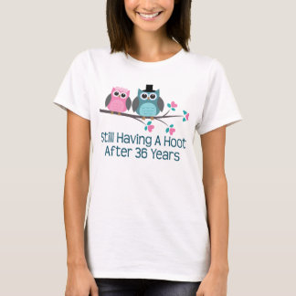 Gift For 36th Wedding Anniversary Hoot T-Shirt