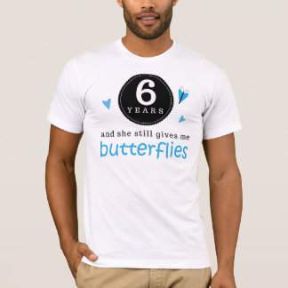Gift For 6th Wedding Anniversary Butterfly T-Shirt