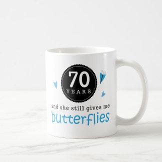 Gift For 70th Wedding Anniversary Butterfly Basic White Mug