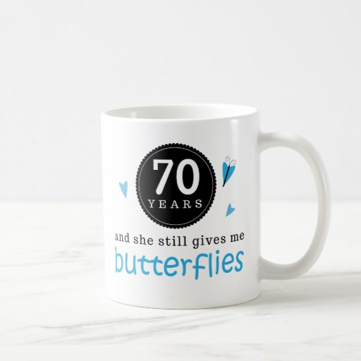 Gift For 70th Wedding Anniversary Butterfly Coffee Mugs