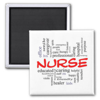 GIFT FOR A ***SPECIAL NURSE**** NURSE PIN OR BADGE SQUARE MAGNET