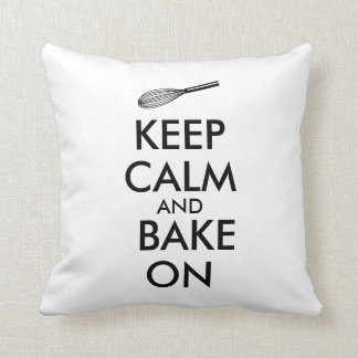 Gift for Baker Keep Calm and Pillow Kitchen Whisk