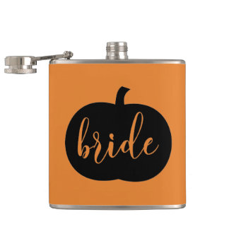 Gift for Fall Bride Hip Flask