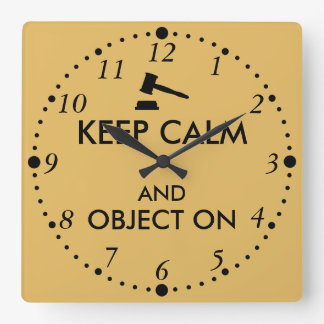 Gift for Lawyer Attorney Judge Law Student or Prof Clock
