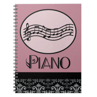 Gift For Piano Teacher Spiral Note Book