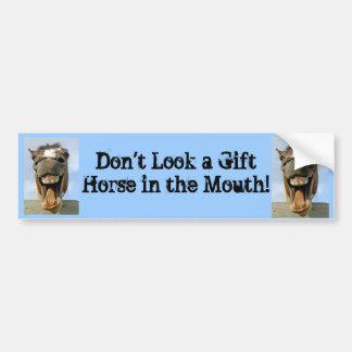 gift horse Bumper Sticker