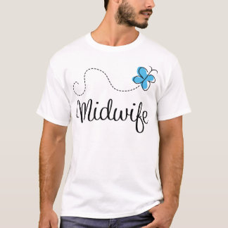 Gift Idea For Midwife (Butterfly) T-Shirt
