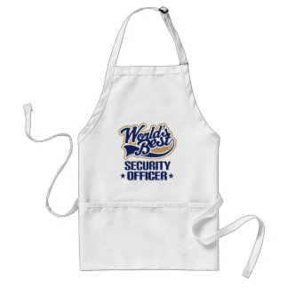 Gift Idea For Security Officer (Worlds Best) Aprons