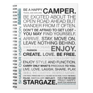 Gift Items For The Happy Inspired Camper Notebook