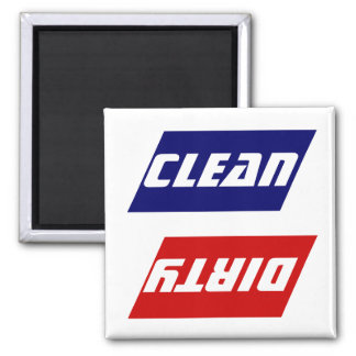 Gift Magnet Red White Blue Clean Dirty Dish washer