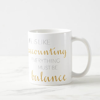 Gift mug for accountant with customizable alphabet