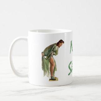 Gift Mug - RETRO PIN-UP GIRL WITH NEW SHOES