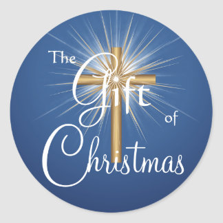 Gift of Christmas Cross stickers