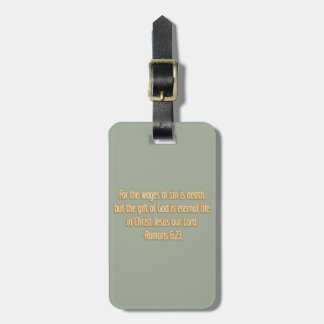 Gift of God Is Eternal Life Luggage Tag
