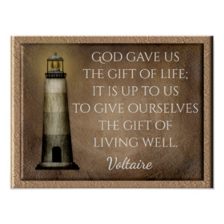 Gift of Life - Voltaire quote - Art print