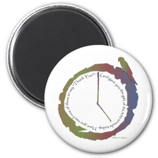 Gift of Time (clock) 6 Cm Round Magnet