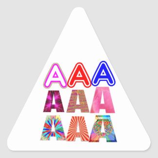 GIFT someone an Aaa Grade: Acknowledge ACHIEVEMENT Triangle Sticker