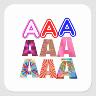 GIFT someone an Aaa Grade: Acknowledge ACHIEVEMENT Square Stickers