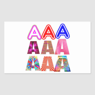 GIFT someone an Aaa Grade: Acknowledge ACHIEVEMENT Rectangular Stickers