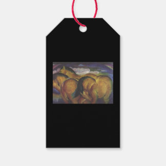 Gift Tag FRANZ MARC YELLOW HORSES