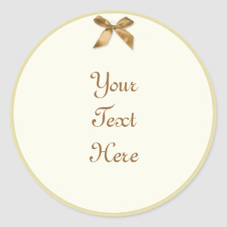 Gift Tag style Stickers with faux ribbon
