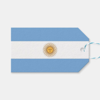 Gift Tag with Flag of Argentina