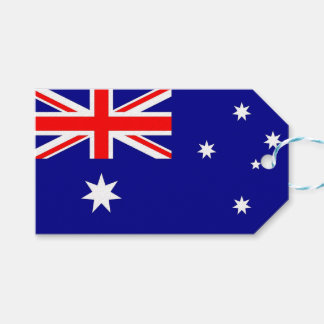 Gift Tag with Flag of Australia