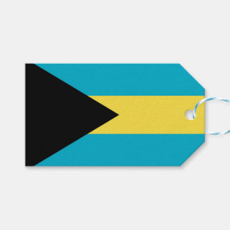Gift Tag with Flag of Bahamas
