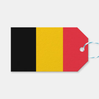 Gift Tag with Flag of Belgium