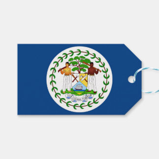 Gift Tag with Flag of Belize