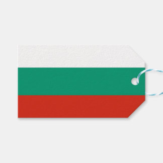 Gift Tag with Flag of Bulgaria