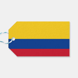 Gift Tag with Flag of Colombia