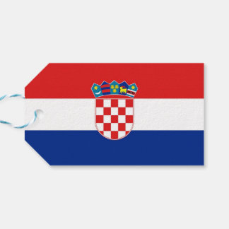 Gift Tag with Flag of Croatia