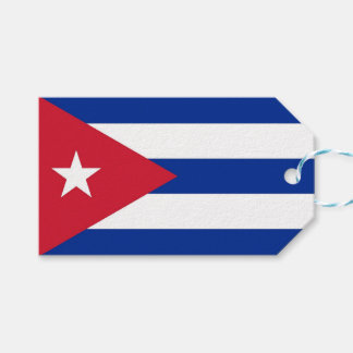 Gift Tag with Flag of Cuba