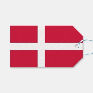 Gift Tag with Flag of Denmark