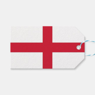 Gift Tag with Flag of England, United Kingdom