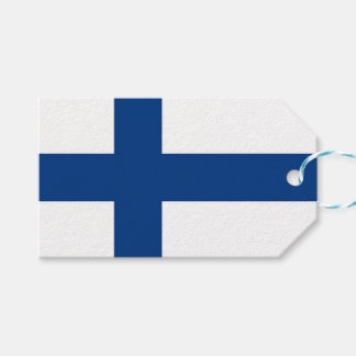 Gift Tag with Flag of Finland