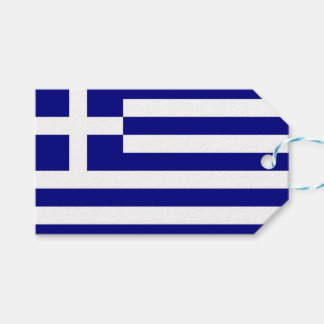 Gift Tag with Flag of Greece