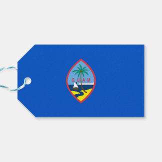 Gift Tag with Flag of Guam, USA