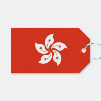 Gift Tag with Flag of Hong Kong