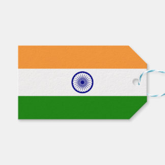 Gift Tag with Flag of India
