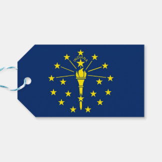 Gift Tag with Flag of Indiana State, USA