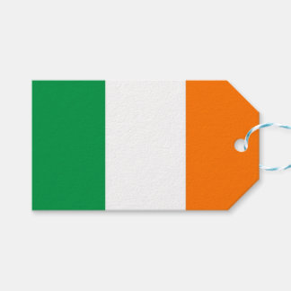 Gift Tag with Flag of Ireland